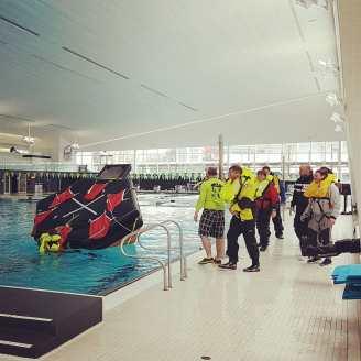 Flipping the raft...